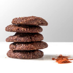 Chocolate Cayenne Cookies in container