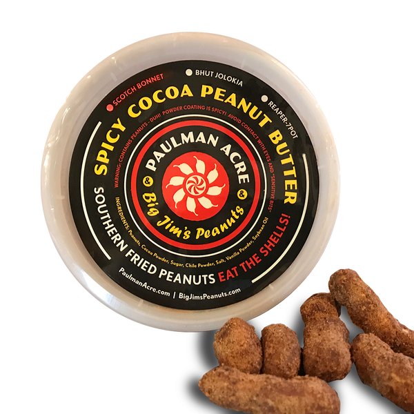 Spicy Cocoa Peanut Butter Southern Fried Peanuts, Scotch Bonnet