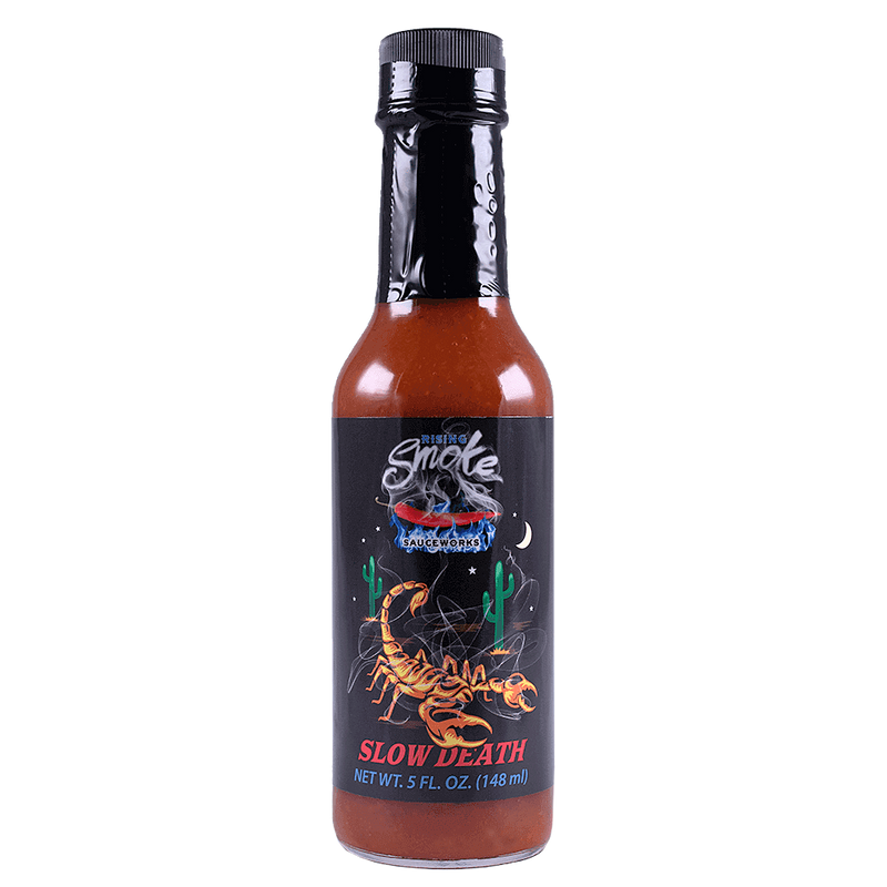 Rising Smoke Slow Death Hot Sauce bottle