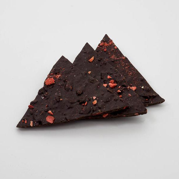 Dark Chocolate Strawberry Habanero Bark