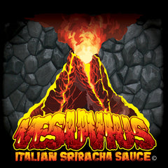 Vesuvius Italian Sriracha Hot Sauce Bottle