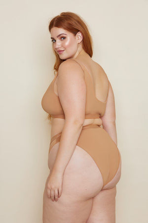 Seamless Cheeky High-Waist Banded Bottom