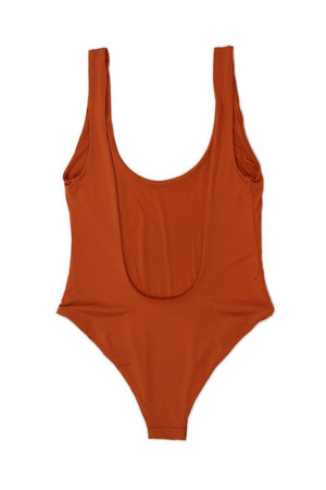 Low Back Moderate Coverage One-Piece - Rust