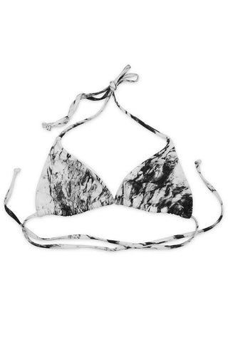 Black Marble Seamless Basic Triangle Top - Front - Dippin' Daisy's Swimwear