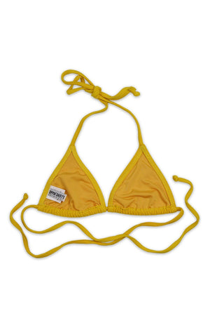 Yellow Rib Seamless Basic Triangle Top Back - Dippin' Daisy's Swimwear