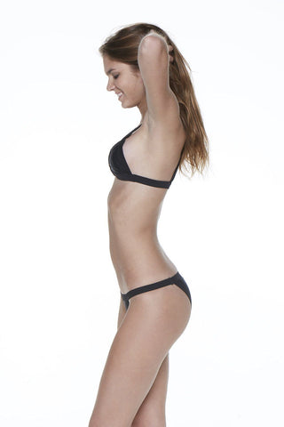 Black Two Piece Over The Shoulder Triangle Bandage Bikini - Dippin' Daisy's Swimwear