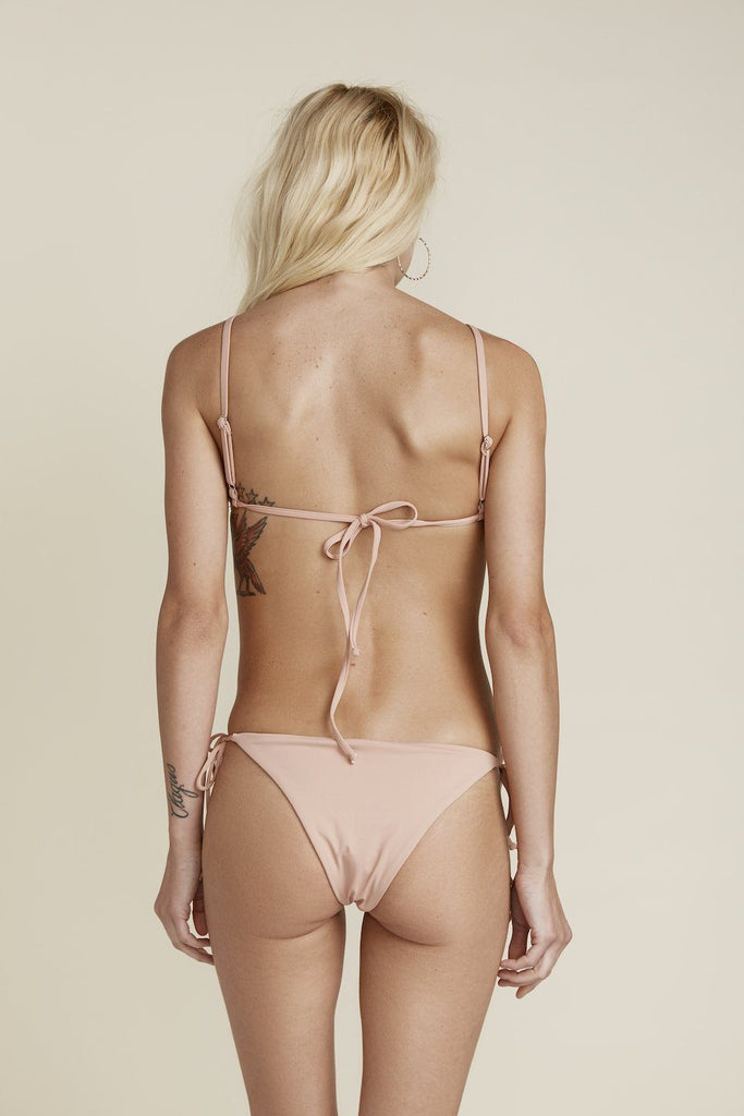 Seamless Tie Side Cheeky Bottom - Cameo