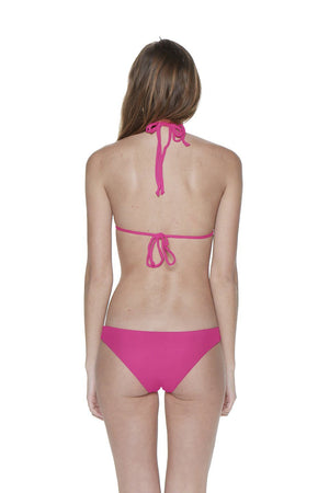 Fuchsia Two-Piece Triangle Strappy Macrame Seamless Bikini - Dippin' Daisy's Swimwear