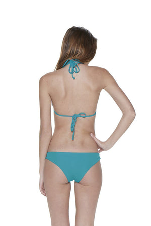 Teal Two-Piece Triangle Strappy Macrame Seamless Bikini - Dippin' Daisy's Swimwear