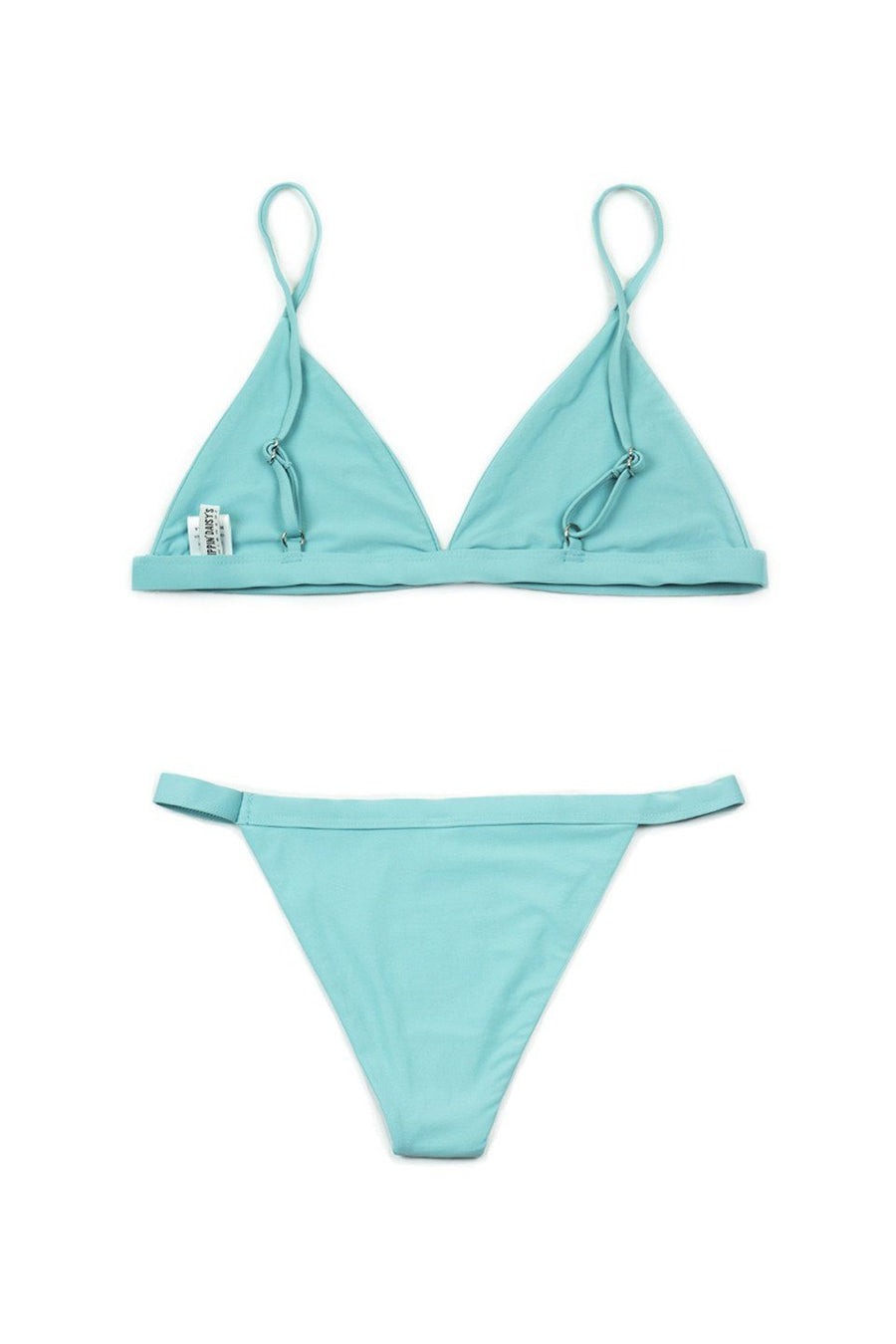 Seafoam Two-Piece Over-the-Shoulder Triangle Top with Banded Bottom - Front - Dippin' Daisy's Swimwear