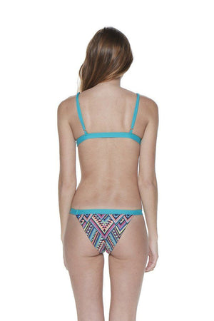 Multi Triangle Two-Piece Over-the-Shoulder Triangle Top with Banded Bottom - Back - Dippin' Daisy's Swimwear