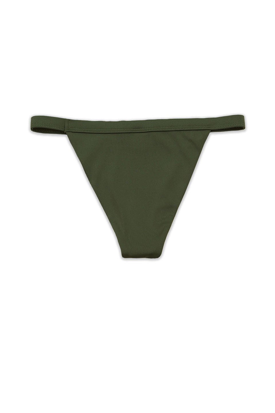 Olive Seamless Fixed Banded Cheeky Bottom - Front - Dippin' Daisy's Swimwear