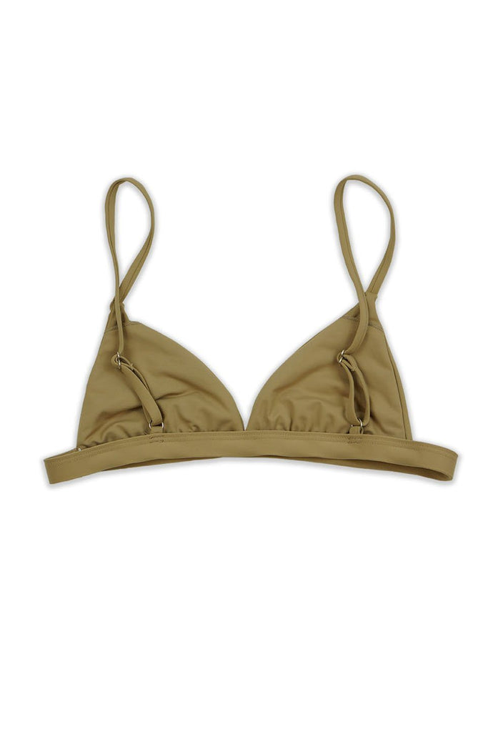 Seamless Pull Over Tri-Top - Beige