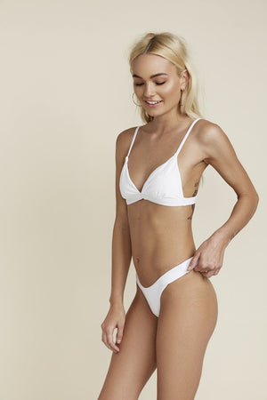 Seamless Cheeky Hi Leg Bottom - White