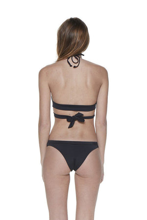 Black Two-Piece Wraparound Halter Bikini - Back - Dippin' Daisy's Swimwear
