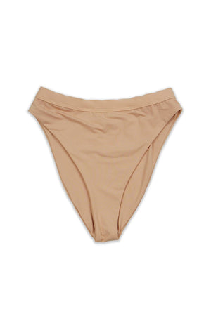 Blush Seamless High Waist Banded High Cut Cheeky BOTTOM Front - Dippin' Daisy's Swimwear
