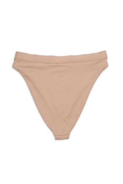 Seamless Cheeky Hi Waist Banded Bottom - Cameo