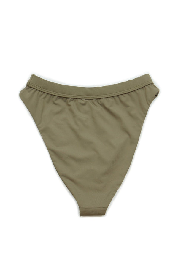 Seamless Cheeky Hi Waist Banded Bottom - Taupe