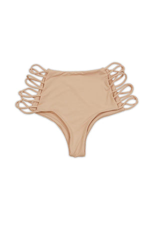 Blush Seamless Strappy High Waist Cheeky BOTTOM Front - Dippin' Daisy's Swimwear