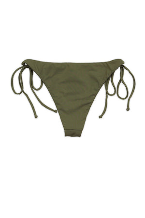 Taupe Seamless Tie Side Cheeky Bikini Bottom Back - Dippin' Daisy's Swimwear