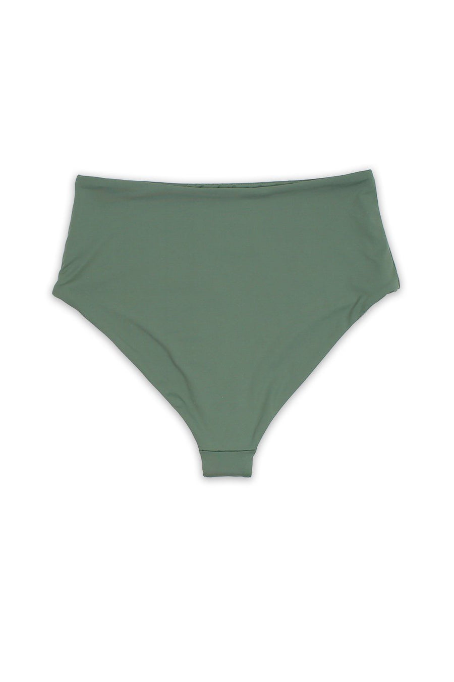 Solid Avocado Womens Seamless Moderate Coverage High Waist Bottom - Front - Dippin' Daisy's