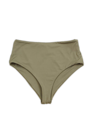 Taupe Seamless Moderate Coverage High Waist Bottom Front - Dippin' Daisy's Swimwear