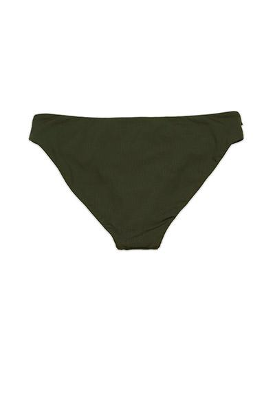 Olive Seamless Cutout Moderate Coverage BOTTOM Front - Dippin' Daisy's Swimwear