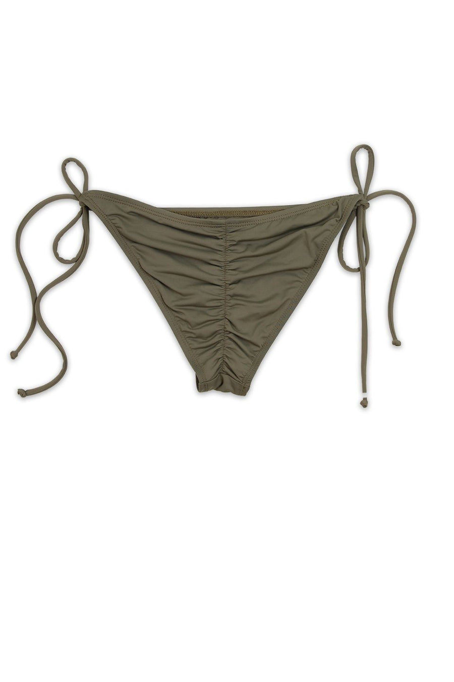 Taupe Scrunch Butt Bikini Bottom Front - Dippin' Daisy's Swimwear