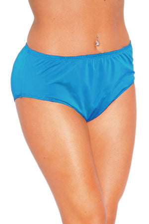 Solid Turquoise High Waist Lined Bottom - Front - Dippin' Daisy's
