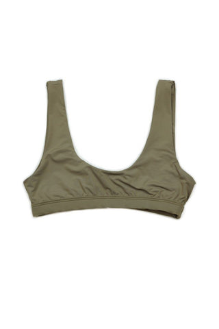 Taupe Seamless Sport TOP Front - Dippin' Daisy's Swimwear