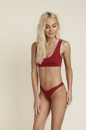 SEAMLESS SPORT TOP - BURGUNDY