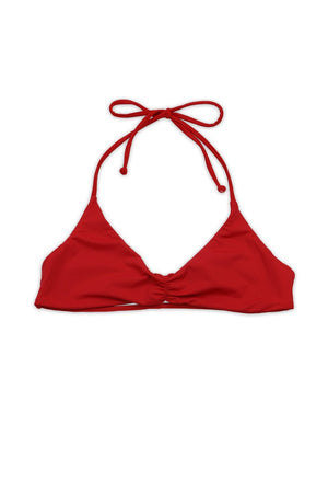 Cherry Seamless Strappy Back Bandeau Halter TopFront View