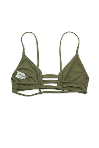 Taupe Seamless Caged Bralette TOP Back - Dippin' Daisy's Swimwear