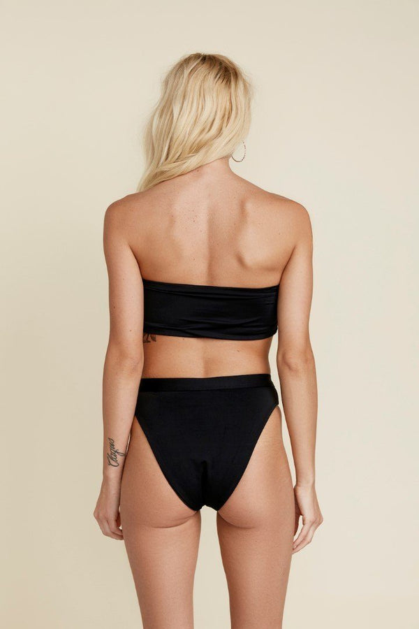 Seamless Cheeky High-Waist Banded Bottom - Black