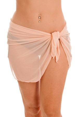 Blush Short Mesh Wrap - Dippin' Daisy's Swimwear