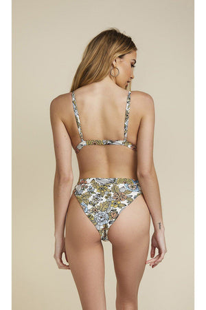 Seamless Cheeky Hi Waist Banded Bottom - 60s Floral