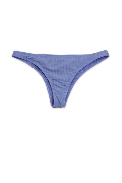 Solid Periwinkle Rib Cheeky BOTTOM Front - Dippin' Daisy's Swimwear