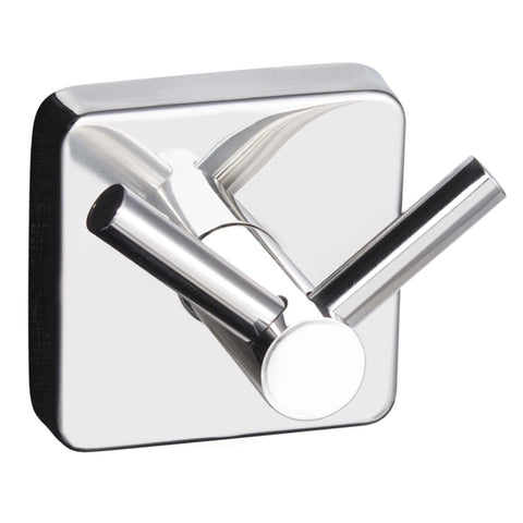 Kapitan Quattro Double Robe and Towel Hook - Square base