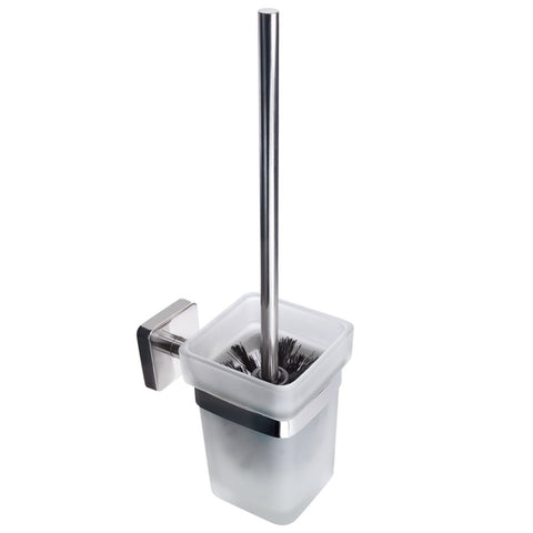 Kapitan Quattro Wall Mounted Toilet Brush and Glass Holder 37 cm/14.57 inches - bath-accessories.co.uk
