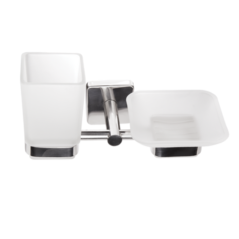 Kapitan Quattro Soap Dish and Thumbler with Holder - bath-accessories.co.uk