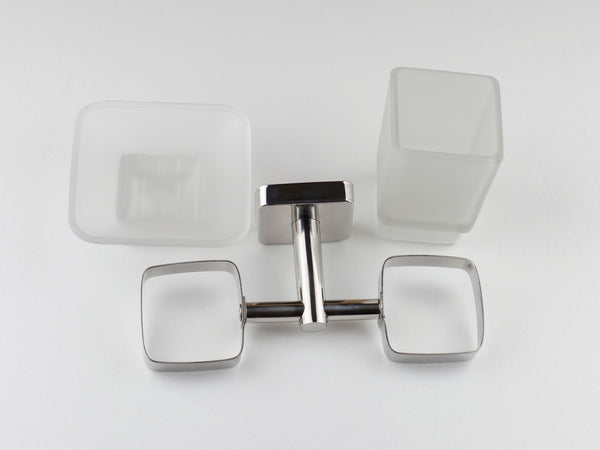 Kapitan Quattro Soap Dish and Tumbler with Holder - bath-accessories.co.uk