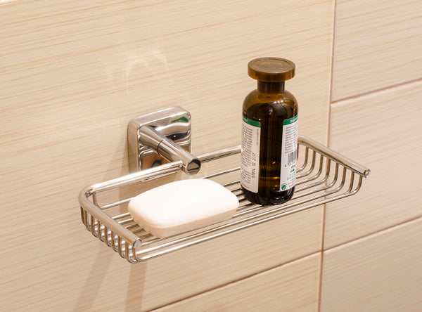 Kapitan Quattro Stainless Steel Bathroom Shower Caddy - bath-accessories.co.uk