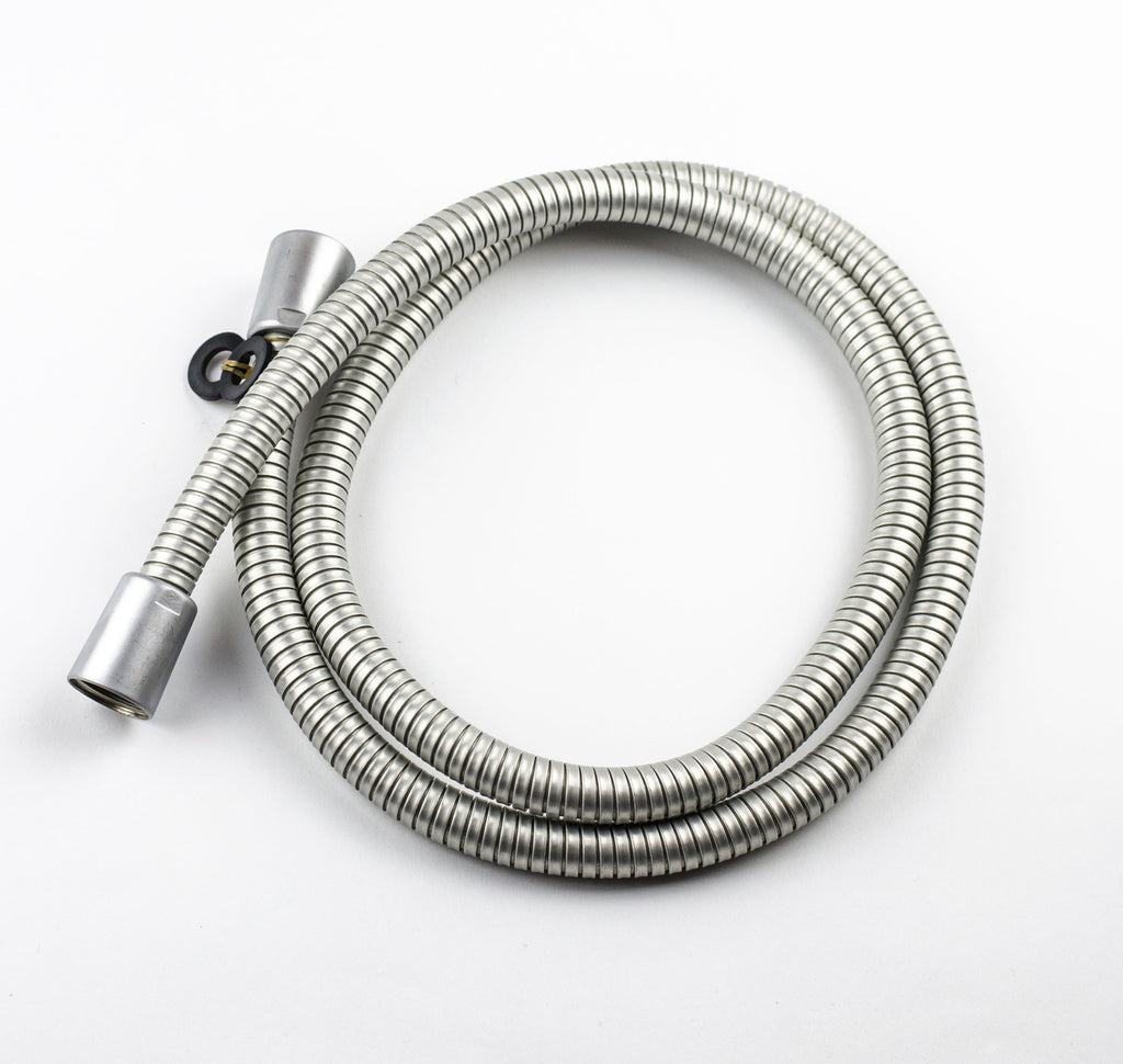 NDW 1.25M/49 Inch Shower Hose - Brushed Aluminium - bath-accessories.co.uk