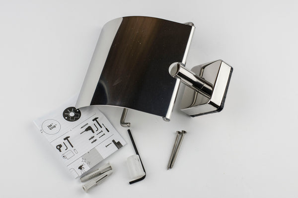 Kapitan Quattro Toilet Roll Holder with Cover - bath-accessories.co.uk