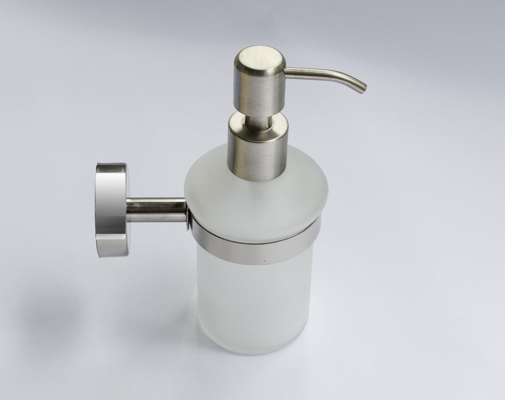 Stainless bathroom accessories - Wall Mounted Soap Dispenser Kapitan Stainless Steel U0026 Frosted