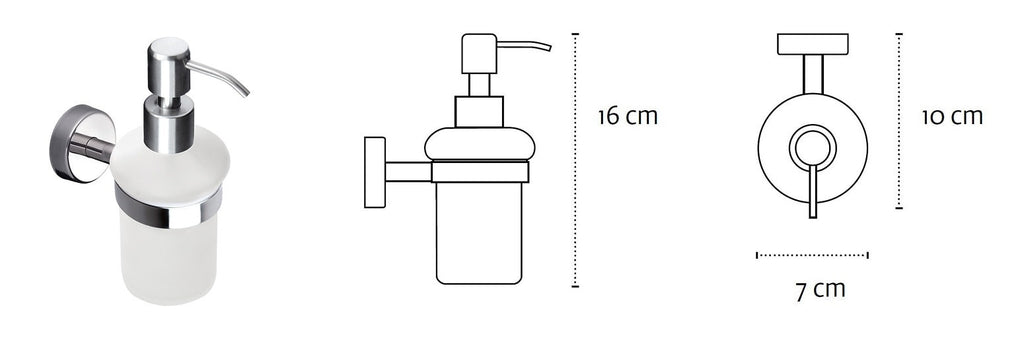 Wall Mounted Soap Dispenser Kapitan Stainless Steel Frosted