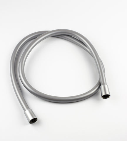 NDW 1.25M/49 Inch Silver PVC Shower Hose - bath-accessories.co.uk