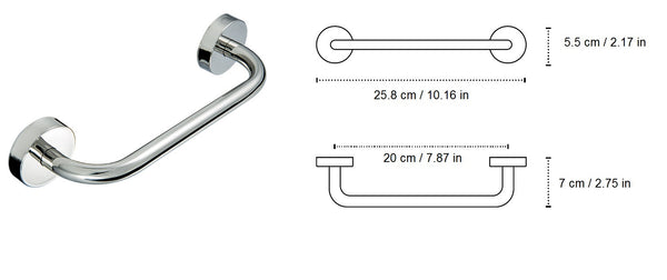 Kapitan Bathroom Grab Bar - bath-accessories.co.uk