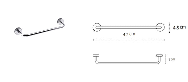 Kapitan Towel Bar Rail - bath-accessories.co.uk
