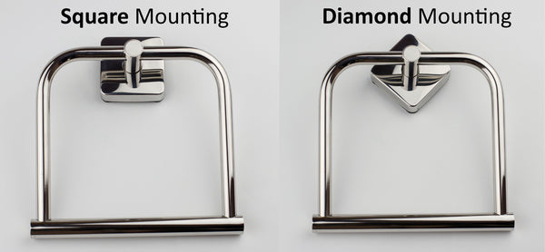Kapitan Quattro Towel Holder - Square or Diamond Shape mounting